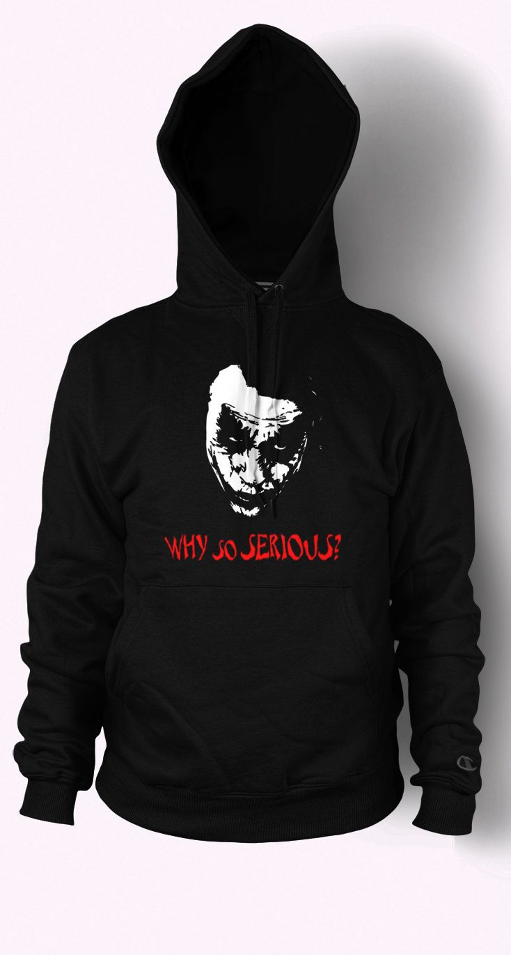 Black t shirt ebay - Details About Joker Hoodie Why So Serious Batman Jumper Heath Ledger Mens Womens T Shirt