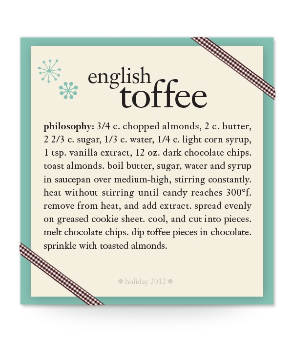 english toffee #recipe #philosophy #holiday