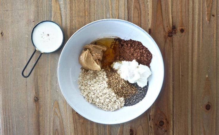 Guiltless Chocolatey Peanut Butter Overnight Oats