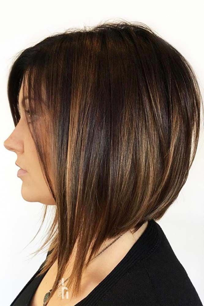 #bobhairstylesforfinehair | Coupe cheveux carré plongeant, Carré plongeant cheveux, Carré ...