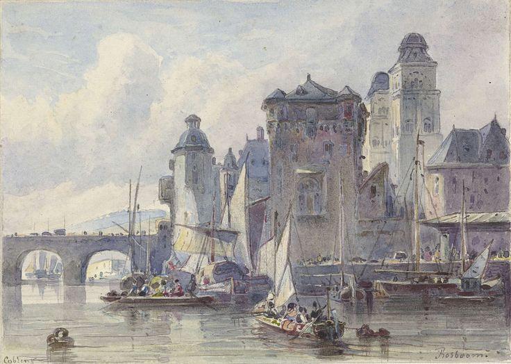 View on Koblenz (Germany), by Johannes Bosboom, 1827-91
