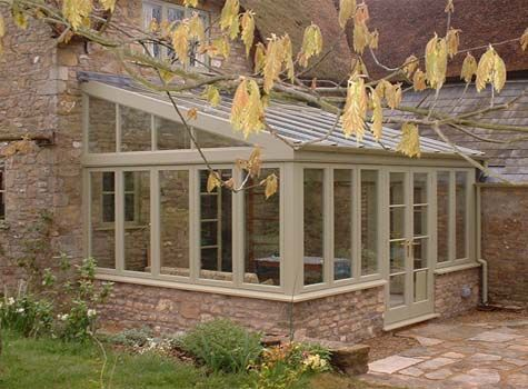 Large but traditional cottage lean-to conservatory