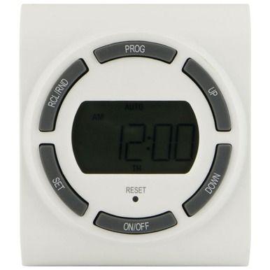 GE 15079 SunSmart(TM) Grounded 7-Day Digital Timer with Random On/off & 2 Outlets