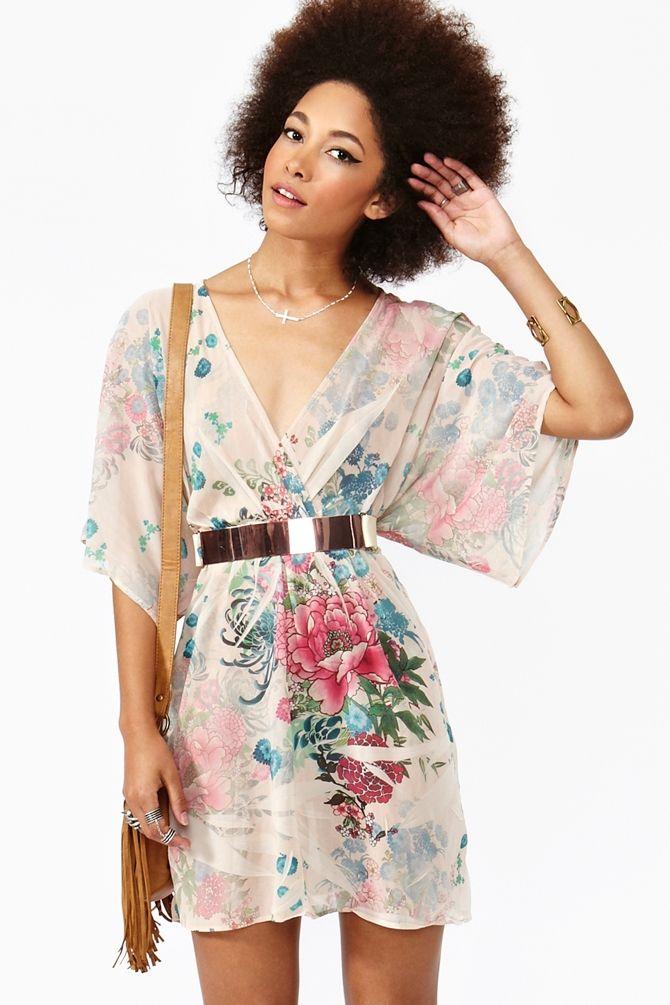 Kimono DressKimonos Dresses, Floral Prints, Ankle Boots, Prints Chiffon, Kimonos Sleeve, Beautiful Dresses, Style Kimonos, Osaka Kimonos, Chiffon Dresses