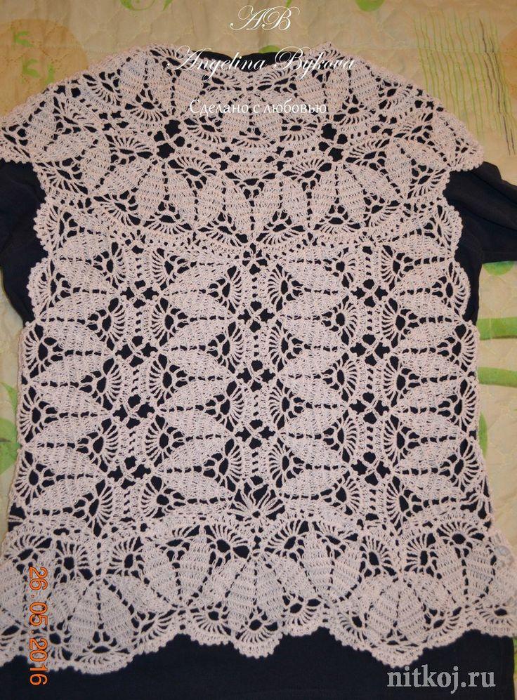 Красивая блузка крючком от Ангелины Быковой