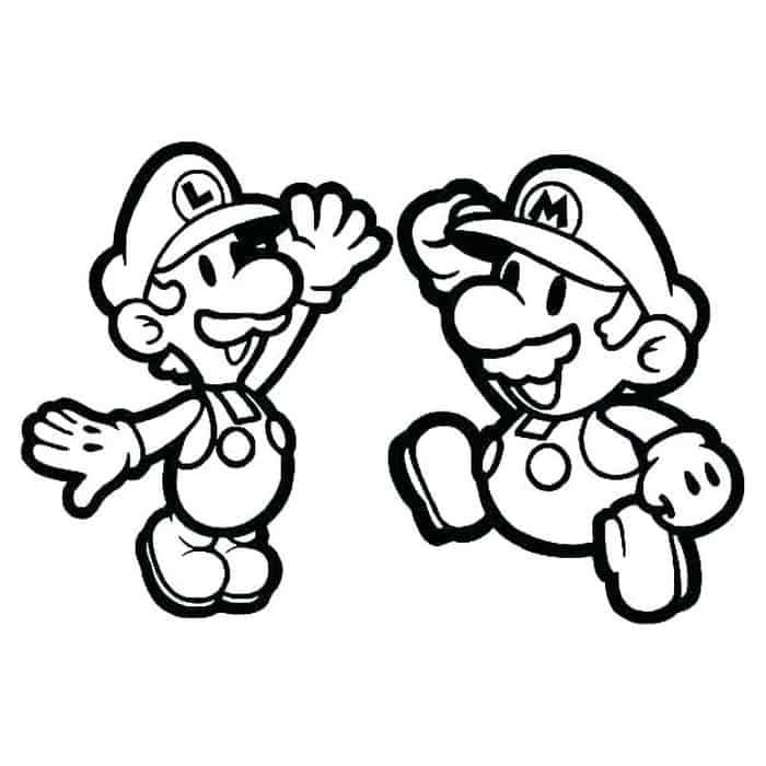 Mario And Luigi Coloring Pages Mario Coloring Pages, Super Mario Coloring  Pages, Coloring Pages
