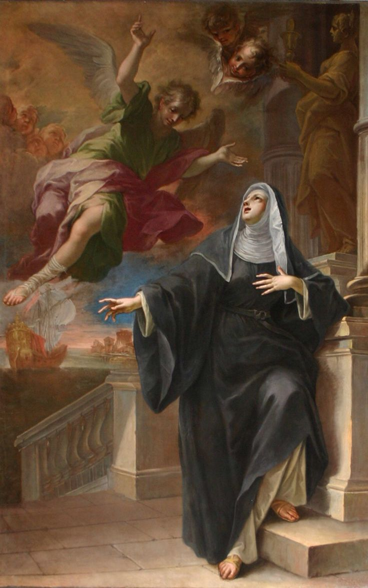 Santa Mónica, madre de San Agustin.  Saint Monica, mother of St Augustine.  Feast day/ Name day May 4  Her memorial is Aug 24.