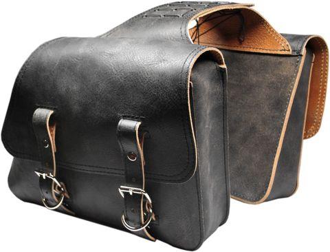 All Harley-Davidson Sportsters Throw Over Saddle Bag Set Rustic Black