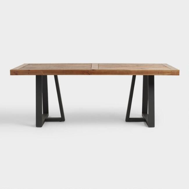 Reclaimed Pine Wood Alain Dining Table V3 Estilo Industrial