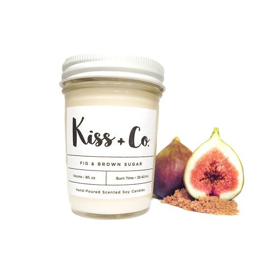 Scented Soy Candle Fig & Brown Sugar 8oz
