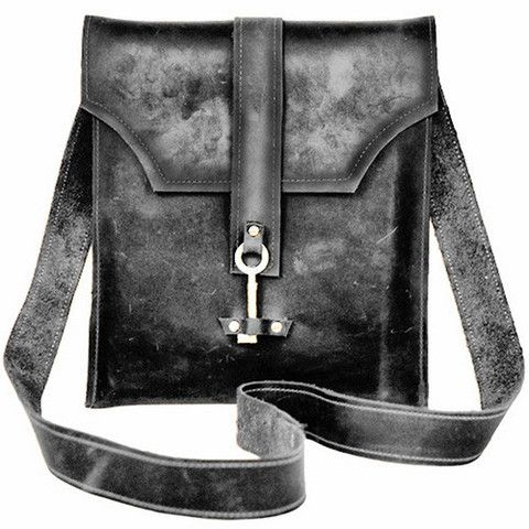 key of life leather messenger bag - my urbanware