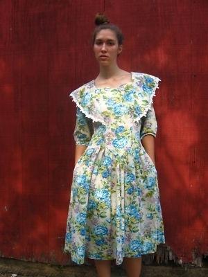 Vintage 1990s 90s Dress Floral Lace Brenner 9/10 Vtg M | eBay - StyleSays