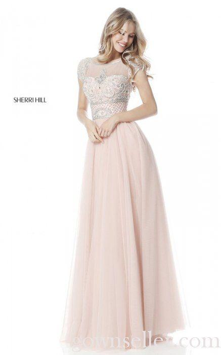Sherri Hill 51603 Blush Full Figured A Line Prom Dress | Sherri Hill ...
