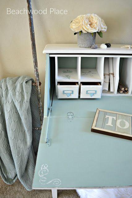 Coastal Style Casual Desk Makeover