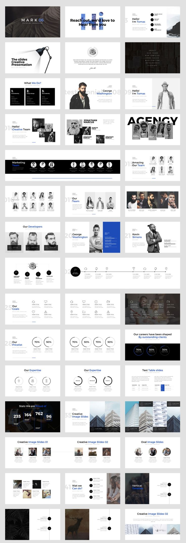 A powerful & creative slide presentation available for PowerPoint Slides. It comes with 100+ unique presentation slides with great professional layout and creative design. Easy to change colors, modify shapes, texts, & charts. All shapes are editable. Icons and 20 colors versions included. Dark & Light BG version.