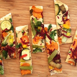 delicious recipe for summer: hummus pizza from #BCorp @A Whole Lotta Love and Hummus Co.