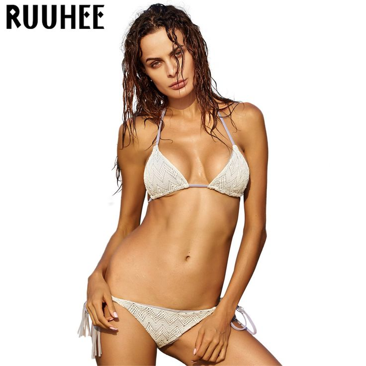 RUUHEE Sexy Lace Bikini Swimwear Swimsuit Women Bikini Set Biquini Push up Bandage Bathing Suit Maillot De Bain Beach Swim Suit #CLICK! #clothing, #shoes, #jewelry, #women, #men, #hats