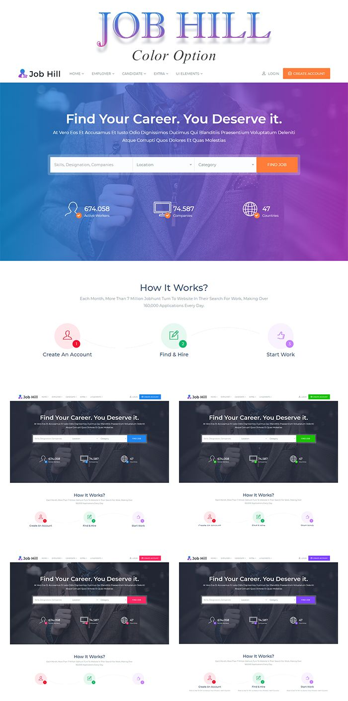 jobhill job board html template