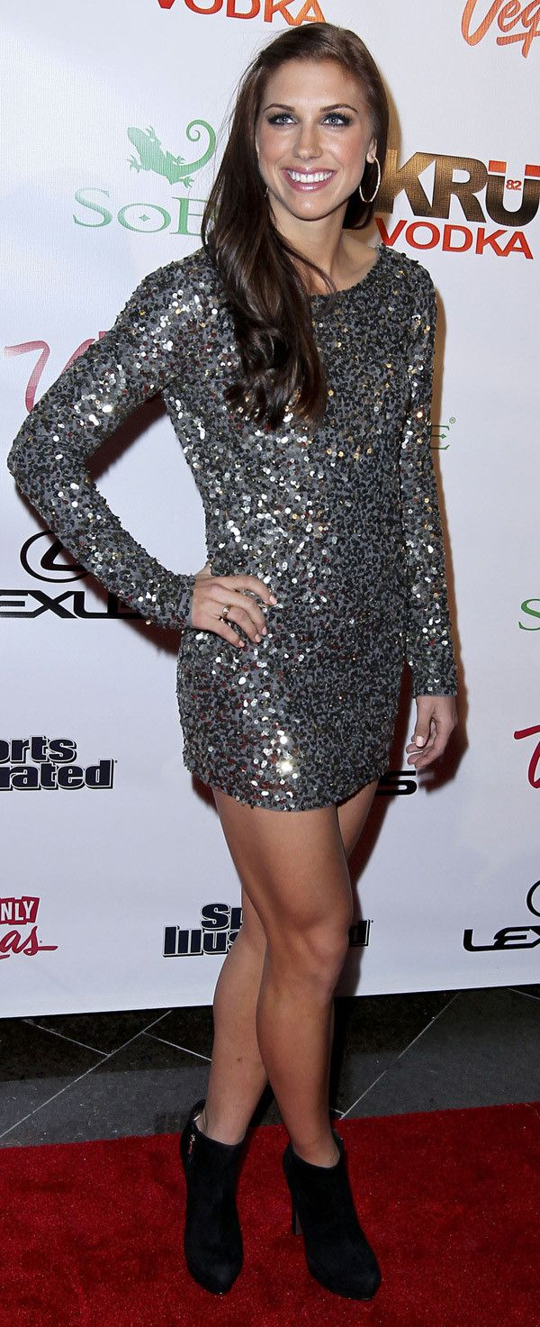 US Soccer starlAlex Morgan...see its ok to have muscular legs!