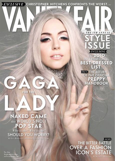 #houseofmagazines | Lady Gaga for Vanity Fair. Proof she looked normal at some time!