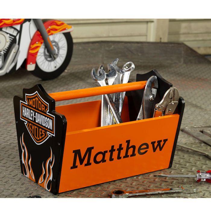 Harley Davidson Toys : Kidkraft personalized harley davidson flames toy caddy