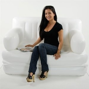 Sofa Sleeper Smart Air Beds x EZ Queen Size Inflatable Sofa Bed White