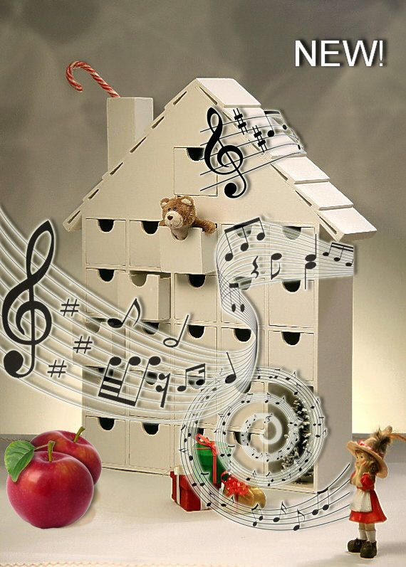 NEW  Musical Wooden Advent Calendar  DIY  Tune Have by StardustKay, $188.00