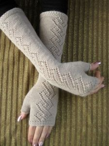 Длинные перчатки без пальцев