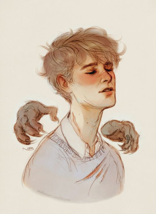 Remus Lupin - my own monster by Natello's Art