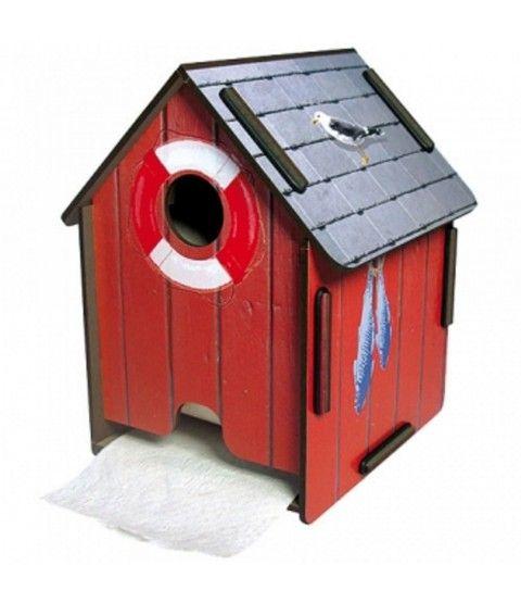 Epic Werkhaus ToPa Haus Bootshaus rot Toilettenpapierhalter Badezimmer WC Accessoires flowerpower