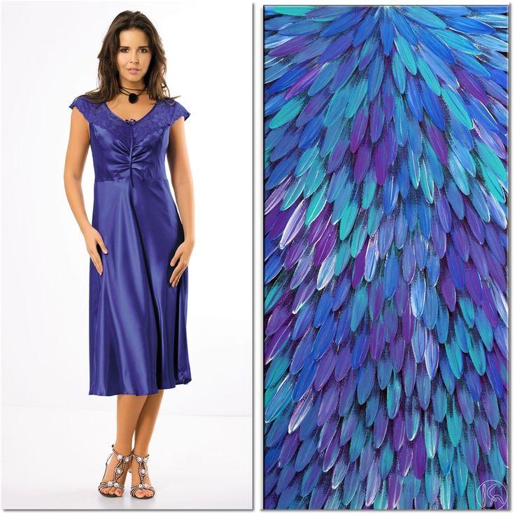 BEATRICE #poland #polska #unikat #underwear #lingerie #ultramarine #blue #model #sexy #nightwear #pijama #style #beatrice