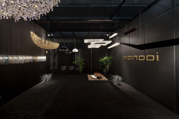 Light + Building 2014, Vague, Wissh, Koi composition, Linea wall www.manooi.com #Manooi #Chandelier #CrystalChandelier #Design #Lighting #exhibition #LightBuilding