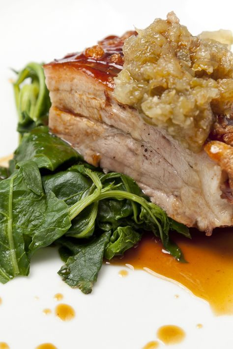 This slow-roast pork belly recipe from Anna Hansen offers a masterclass in cooking this unctuous cut of meat, ensuring both meltingly, tender flesh and perfect crackling.