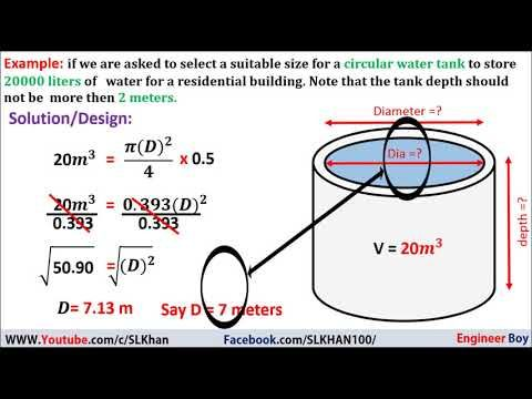 Circular Water Tank Design Example Calculation Design Of Water Tanks Water Tank Tank Design Tank