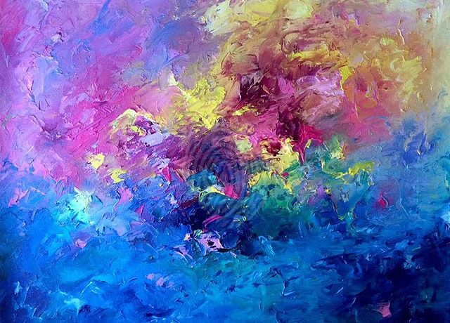 Pink Sunset Painting by Tracey-Ann Morris