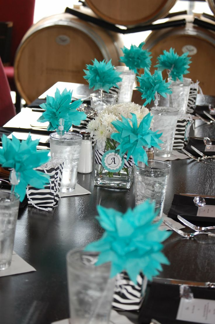 Party Pretty Design Teal And Black Bridal Shower Kamryn