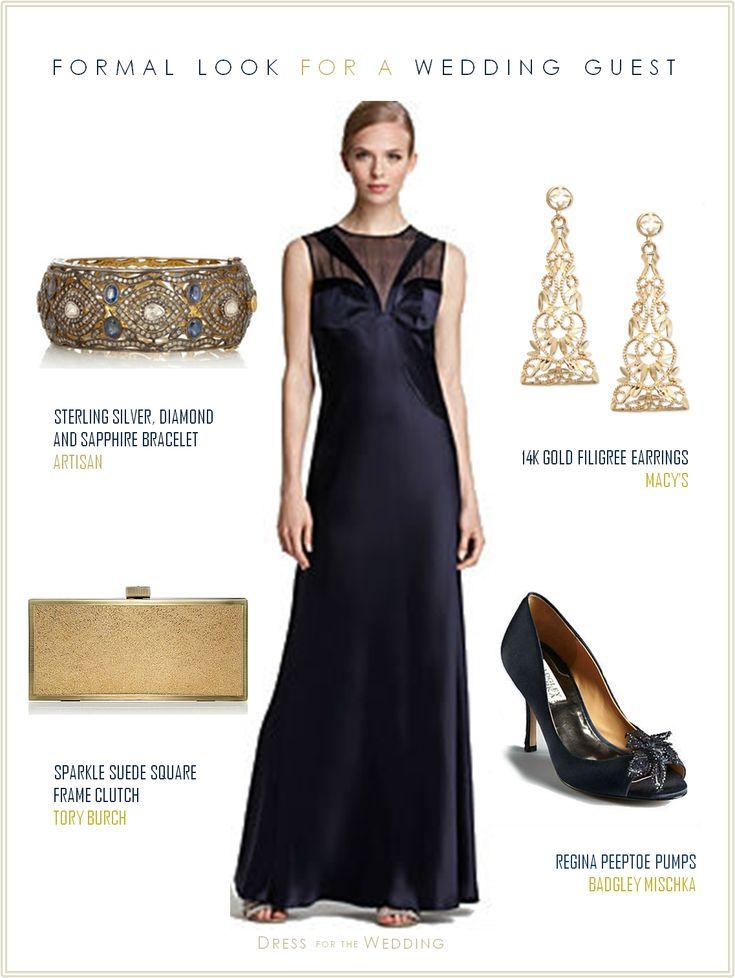 New Midnight Blue Dress for Black Tie Wedding
