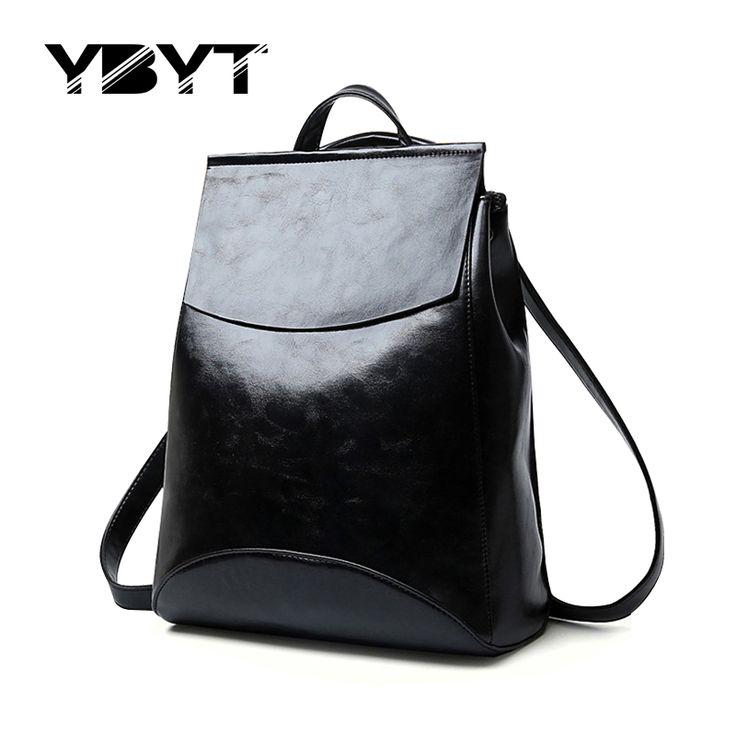 Ybyt marke 2017 neue einfache adrette glänzende feste rucksack hotsale damen designer tasche wasserdicht schüler schule rucksäcke