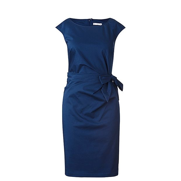 City Dressing Wrap Front Dress - Medieval Blue