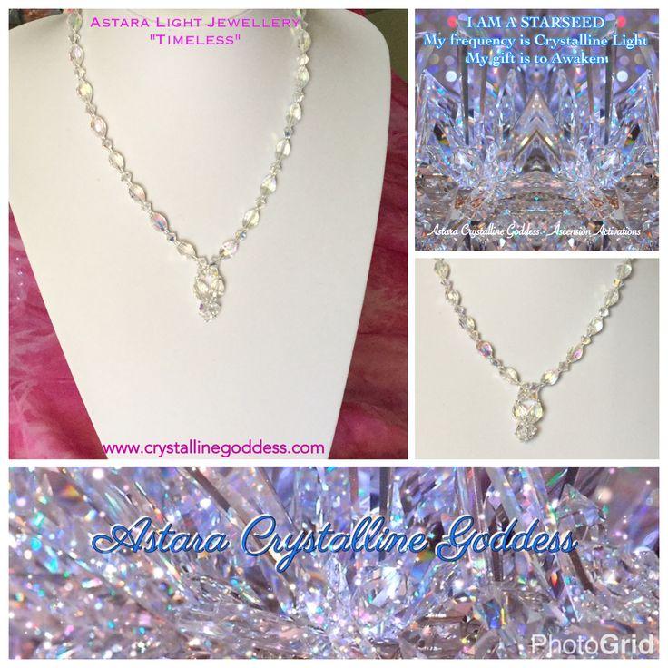 """Timeless"" Crystal & Swarovski Necklace...at one with Illuminated Light ✨ I AM Eternal essence 💛✨💛 $77"