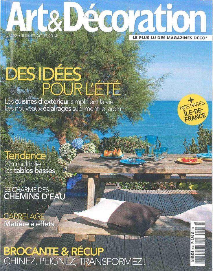 Paris au mois d'août's pendant lampshades and table lamps are in the french magazine Art & Décoration