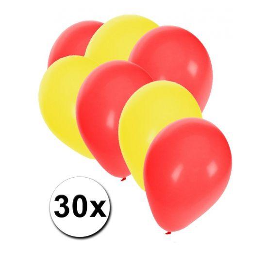 Chinees ballonnen pakket 30x  30 stuks ballonnen in de kleuren van China: Rood en Geel. Van elke kleur 15 ballonnen leuk voor Chinese themafeesten.  Dit artikel bestaat uit: 1x Rode ballonnen 15 stuks 1x Rode ballonnen 15 stuks 1x Gele ballonnen 15 stuks  EUR 4.48  Meer informatie