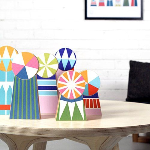Charlotte Swiden's new collection - Tivolivat - wooden decorations. #wooden, #swedish, #homedeco