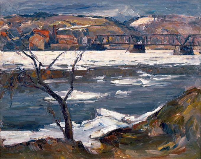 John Fulton Folinsbee, River Ice, 1935.  Michener Art Museum