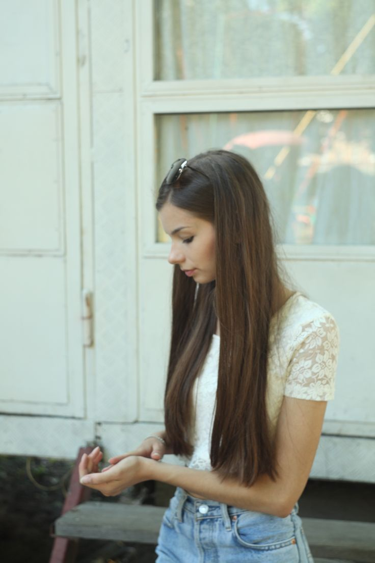 #girl #beatifull #ukraine #female #model #brown #light #denim #hands #portrate