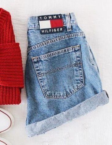 8294c3a1 Tommy hilfiger jeans short   clothessss in 2019   Tommy hilfiger ...