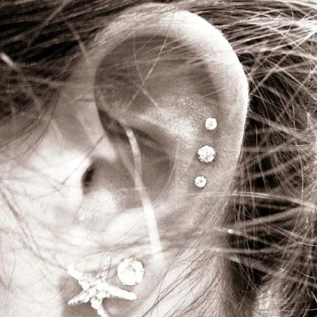 Ear piercings are so cute