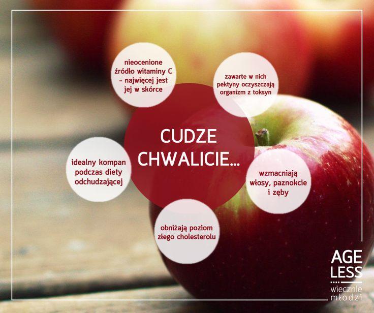 Polskie sady pękają w szwach od tych pysznych i wartościowych owoców. Dużo witaminy C, właściwości odtruwające organizm - to tylko niektóre z licznych zalet jabłek, dla których warto po nie regularnie sięgać :)  #ageless www.ageless.pl #wieczniemlodzi #wiecznamlodosc #jablka #witaminy