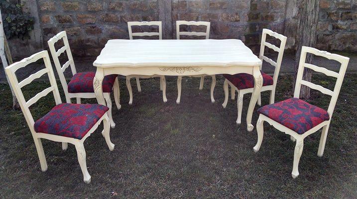 Muebles normando blancos 20170822074208 for Comedor vintage chile