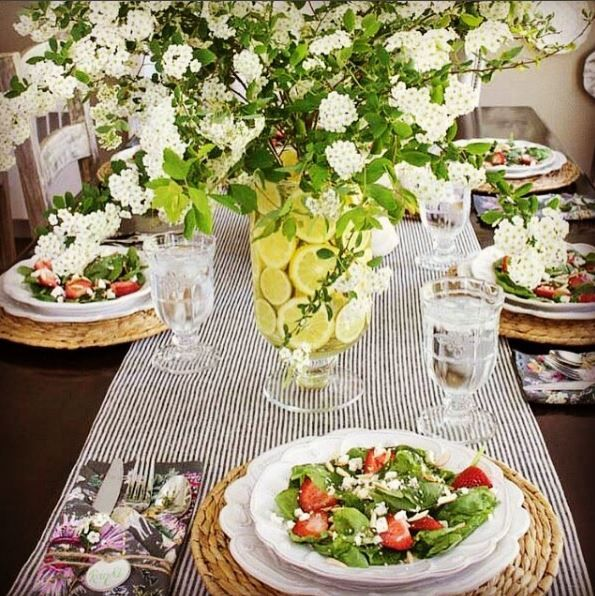 A gorgeous summer luncheon set with our Jardins Du Monde collection, by the stylish @drivenbydecor